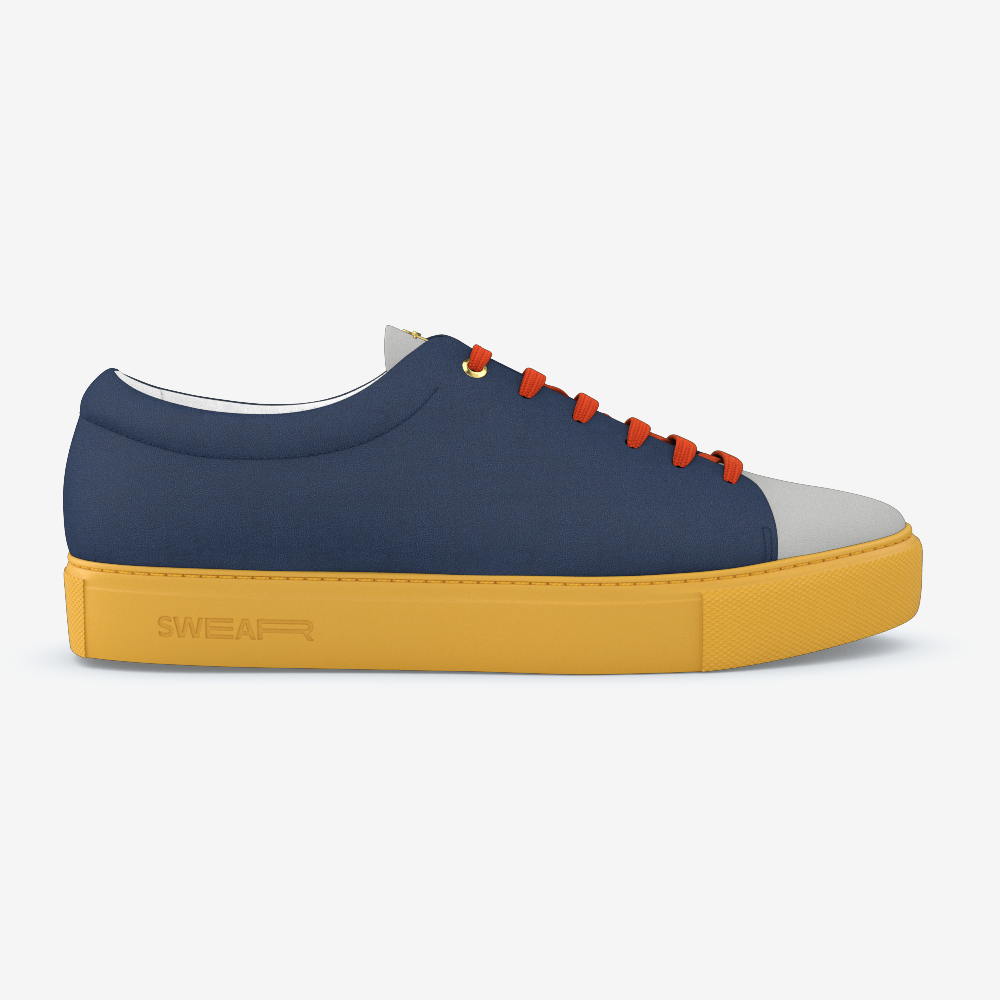 Compose?brand=swear&model=vyner&frame=0&p=lining:calf lining:white&p=front:nappa:grey&p=side:nappa:navy&p=sole:rubber:yellow&p=laces:nylon:burnt orange&p=logo:metal:gold&p=hardware:metal:gold&p=shadow:default:default&format=png&background=f5f5f5